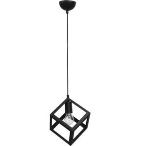 Φωτιστικό Οροφής Μονόφωτο Μεταλλικό Kyvos 1/L Black Heronia 34-0053