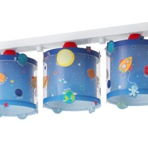 Planets τρίφωτο παιδικό φωτιστικό φωσφορίζον ango 41343