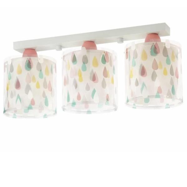 Color Rain τρίφωτο εφηβικό φωτιστικό οροφής ango 41433