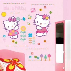 Διακοσμητικά Αυτοκόλλητα Τοίχου Hello Kitty XL ango 5193