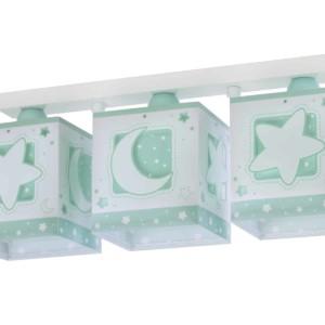 7063233/NH-521-Green Moon τρίφωτο παιδικό φωτιστικό οροφής ράγας 63233 NH