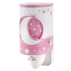 Pink Moon παιδικό φωτιστικό νύκτας πρίζας LED ango 63235 S