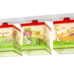 My Little Farm παιδικό φωτιστικό οροφής τρίφωτο ango 64403