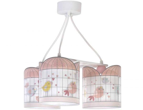 Ango 71284 - Little Birds κρεμαστό τρίφωτο φωτιστικό οροφής