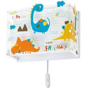 Ango 73458 - Dinos παιδικό φωτιστικό απλίκα τοίχου διπλού τοιχώματος