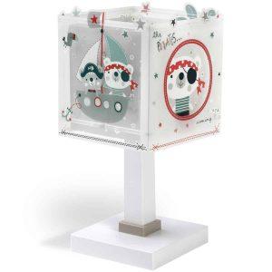 Ango 74551 - The Pirates κομοδίνου παιδικό φωτιστικό διπλού τοιχώματος φωσφορίζον