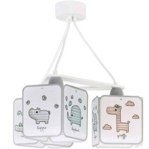 Ango 75124 - Baby Zoo κρεμαστό τρίφωτο φωτιστικό οροφής