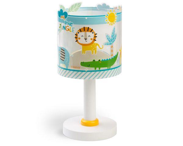 Ango 76111 - My Little Jungle παιδικό φωτιστικό κομοδίνου με διπλό τοίχωμα που φωσφορίζει στο σκοτάδι