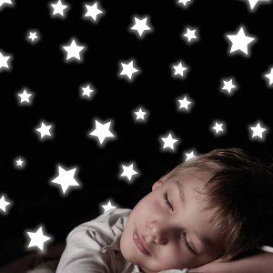 Ango 77223 - Stars φωσφορίζοντα αυτοκόλλητα τοίχου - Small μέγεθος