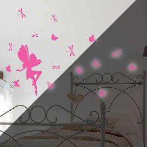 Ango 79226 - Fairy Glow φωσφορίζοντα αυτοκόλλητα τοίχου Medium μέγεθος