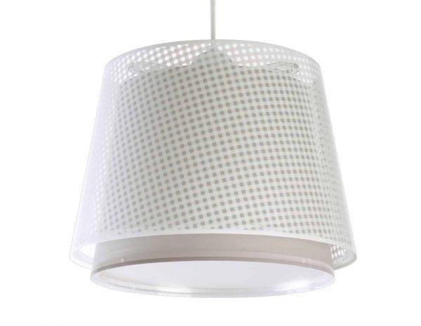Το Vichy Beige κρεμαστό παιδικό φωτιστικό οροφής διπλού τοιχώματος είναι μεγάλο σε μέγεθος και είναι κατάλληλο για γενικό φωτισμό. Συνθετικό υλικό αντοχής από πολυπροπυλένιο