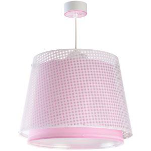 Ango 80222 S - Vichy Pink κρεμαστό παιδικό φωτιστικό οροφής διπλού τοιχώματος