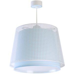 Ango 80222 T - Vichy Blue κρεμαστό παιδικό φωτιστικό οροφής διπλού τοιχώματος