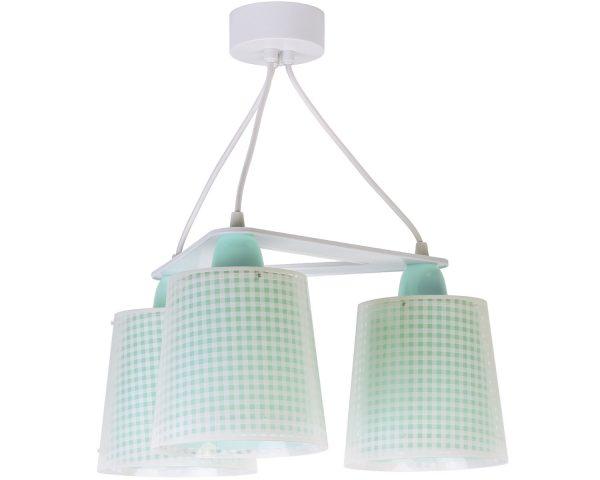 Ango 80224 H - Vichy Green κρεμαστό τρίφωτο φωτιστικό οροφής