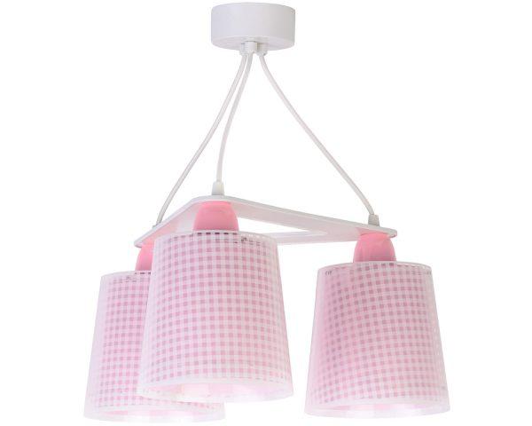 Ango 80224 S - Vichy Pink κρεμαστό τρίφωτο φωτιστικό οροφής