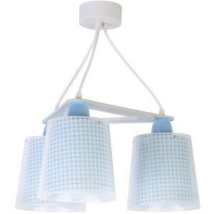 Ango 80224 T - Vichy Blue κρεμαστό τρίφωτο φωτιστικό οροφής