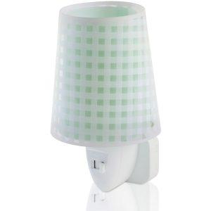 Ango 80225 H - Vichy Green φωτιστικό νύκτας πρίζας LED
