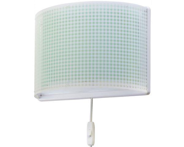 Ango 80228 H - Vichy Green παιδικό φωτιστικό απλίκα τοίχου διπλού τοιχώματος