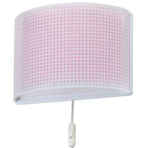 Ango 80228 S - Vichy Pink παιδικό φωτιστικό απλίκα τοίχου διπλού τοιχώματος