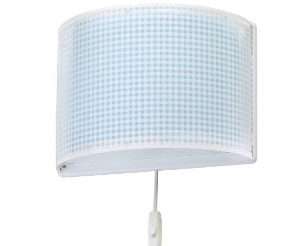 Ango 80228 T - Vichy Blue παιδικό φωτιστικό απλίκα τοίχου διπλού τοιχώματος