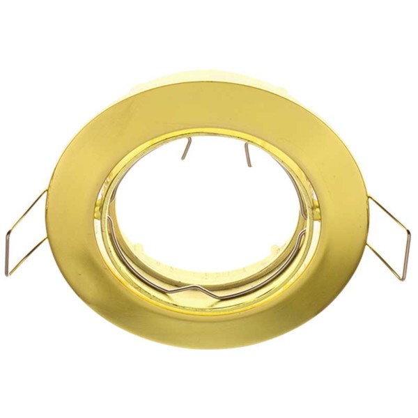 Σποτ Χωνευτό Σταθερό Χρυσό Ø50mm