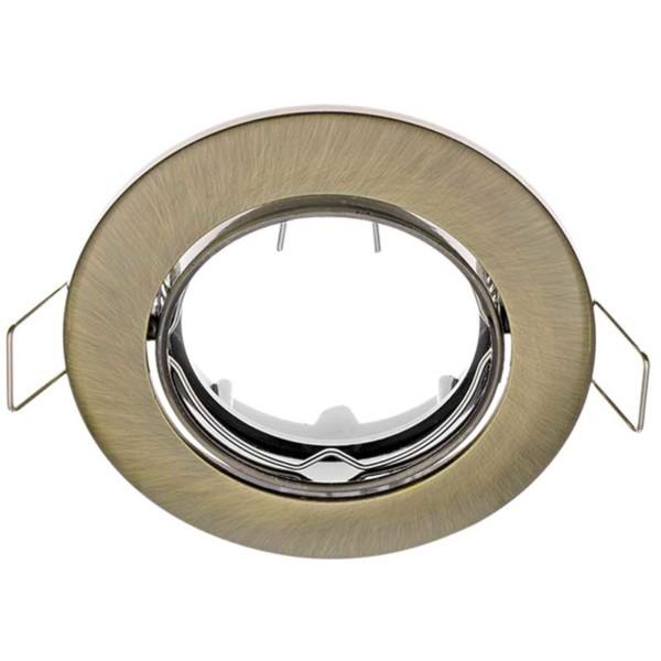 Σποτ Χωνευτό Κινητό Χρυσό Αντικέ Ø50mm