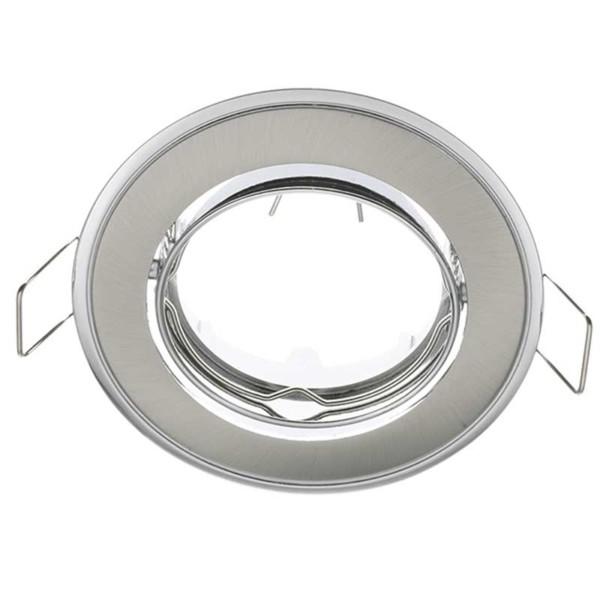 Δίχρωμο Σταθερό Σποτ Απλό Σατέν Νίκελ-Χρώμιο 50mm