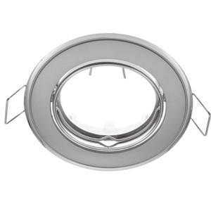 Δίχρωμο Σταθερό Σποτ Απλό Χρώμιο Περλέ-Χρώμιο 50mm