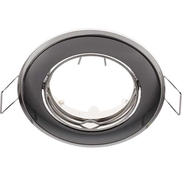 Δίχρωμο Σταθερό Σποτ Απλό Σατέν Γραφίτης - Χρώμιο 50mm