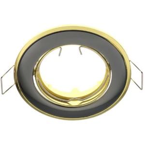 Δίχρωμο Σταθερό Σποτ Απλό Σατέν Γραφίτης - Χρυσό 50mm