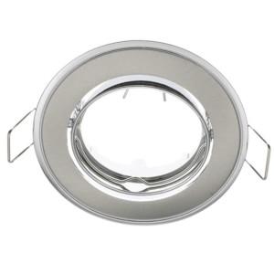 Δίχρωμο Κινητό Σποτ Απλό Σατέν Νίκελ-Χρώμιο 50mm