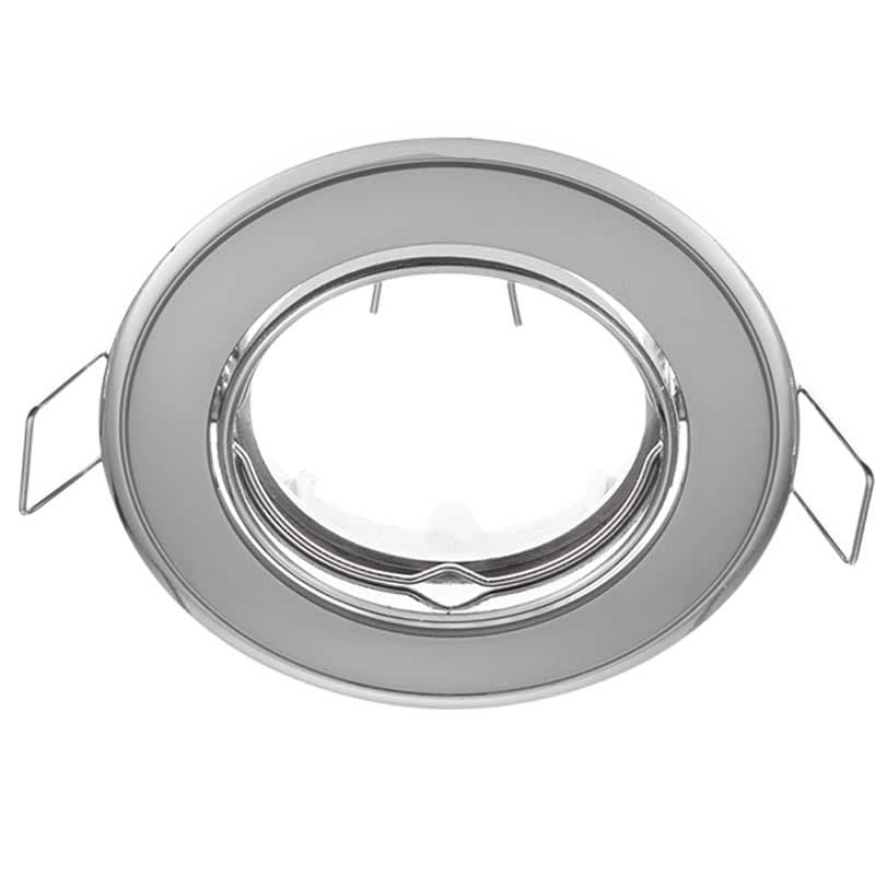 Δίχρωμο Κινητό Σποτ Απλό Χρώμιο Περλέ-Χρώμιο 50mm
