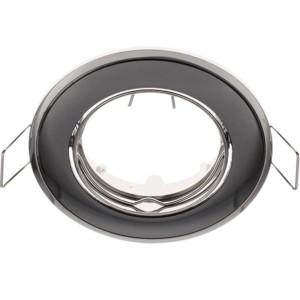 Δίχρωμο Κινητό Σποτ Απλό Σατέν Γραφίτης - Χρώμιο 50mm