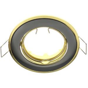 8080166-389-Δίχρωμο Κινητό Σποτ Απλό Σατέν Γραφίτης - Χρυσό 50mm