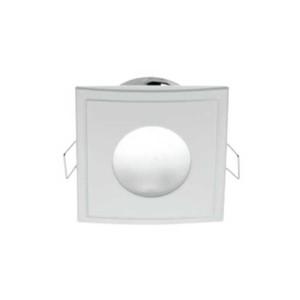 Σποτ Στεγανό Λευκό για GU10 Τετράγωνο Χωνευτό 50W max IP44 85x85mm