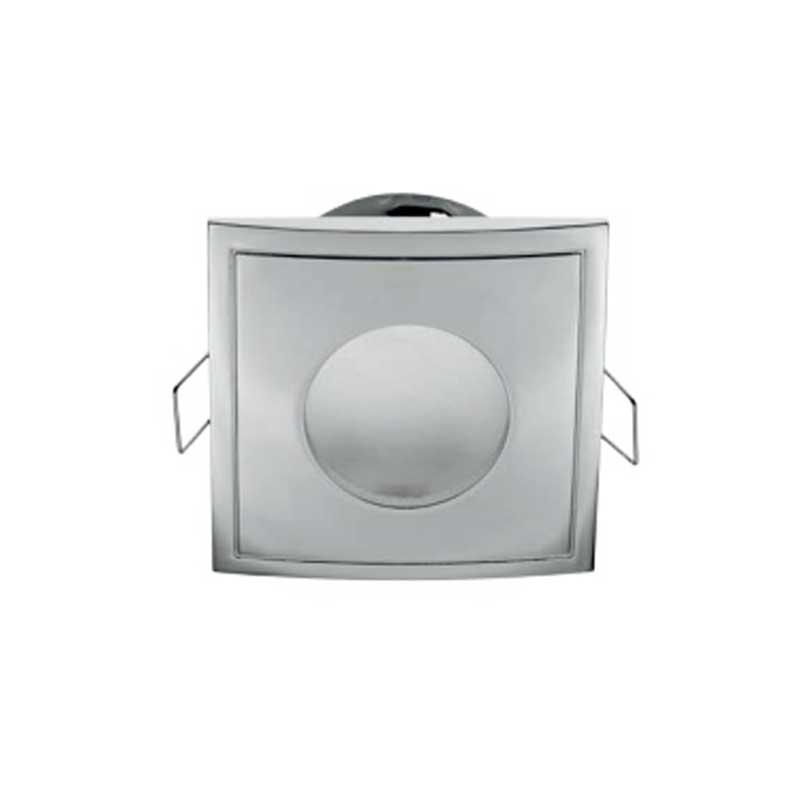 Σποτ Στεγανό Χρώμιο για GU10 Τετράγωνο Χωνευτό 50W max IP44 85x85mm