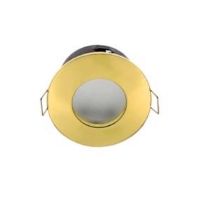 8080308-397-Σποτ Στεγανό Χρυσό για GU10 Στρογγυλό Χωνευτό 50W max IP44 Διαμ. 85mm Elmark 92044/G