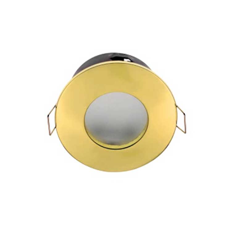 Σποτ Στεγανό Χρυσό για GU10 Στρογγυλό Χωνευτό 50W max IP44 Διαμ. 85mm Elmark 92044/G