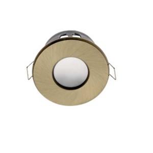 Σποτ Στεγανό Αντικέ Χρυσό για GU10 Στρογγυλό Χωνευτό 50W max IP44 Διαμ. 85mm