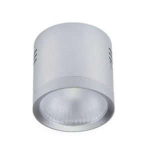 LED Σποτ Ασημί Epistar IP40 Στρογγυλό Επιφανείας 10W 4-4300K 95mm x 110mm