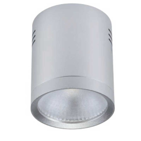 LED Σποτ Ασημί Epistar IP40 Στρογγυλό Επιφανείας 20W 4-4300K 95mm x 110mm