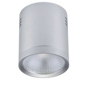 LED Σποτ Ασημί Epistar IP40 Στρογγυλό Επιφανείας 20W 2700-3000K 95mm x 110mm