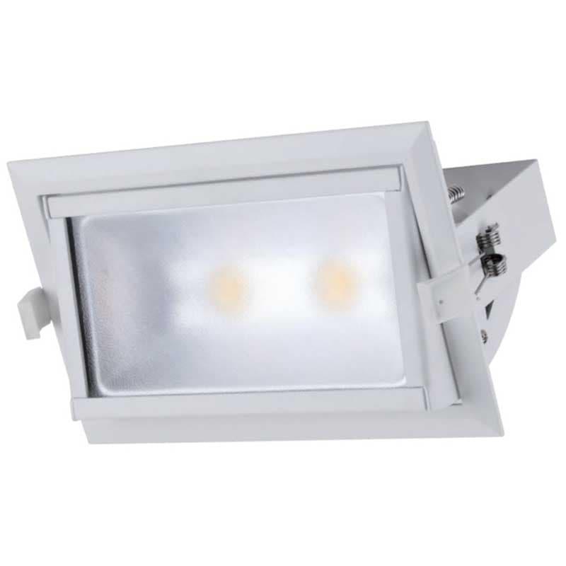 LED Spot Χωνευτό Ορθογώνιο Λευκό 30W 4000K Elmark