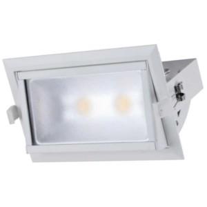 LED Spot Χωνευτό Ορθογώνιο Λευκό 40W 4000-4300K Elmark
