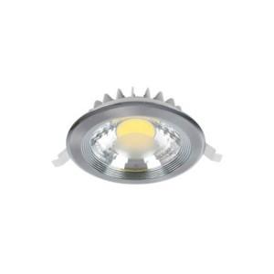 LED Spot Χωνευτό Στρογγυλό Νίκελ-Σατέν 10W 2700-3000K Elmark