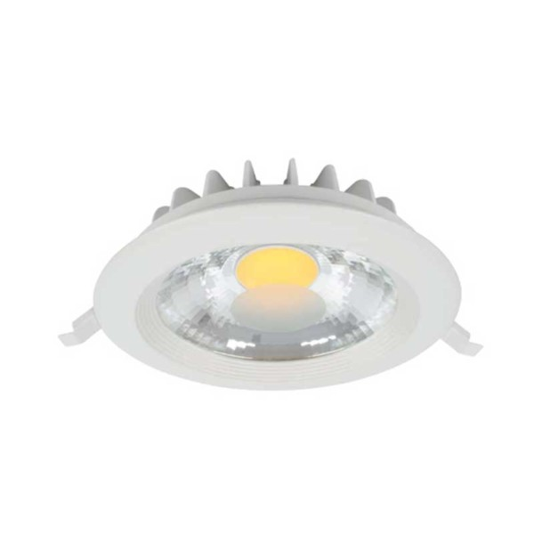 LED Spot Χωνευτό Στρογγυλό Λευκό 15W 2700-3000K Elmark