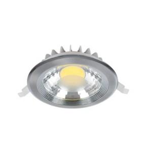 LED Spot Χωνευτό Στρογγυλό Νίκελ-Σατέν 15W 2700-3000K Elmark