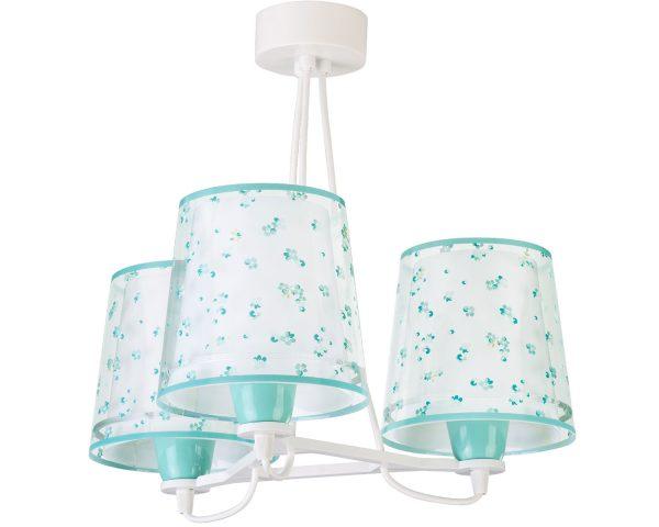Ango 81177 H - Dream Flowers Green κρεμαστό τρίφωτο φωτιστικό οροφής