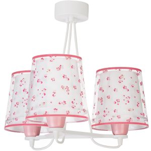 Ango 81177 S - Dream Flowers Pink κρεμαστό τρίφωτο φωτιστικό οροφής