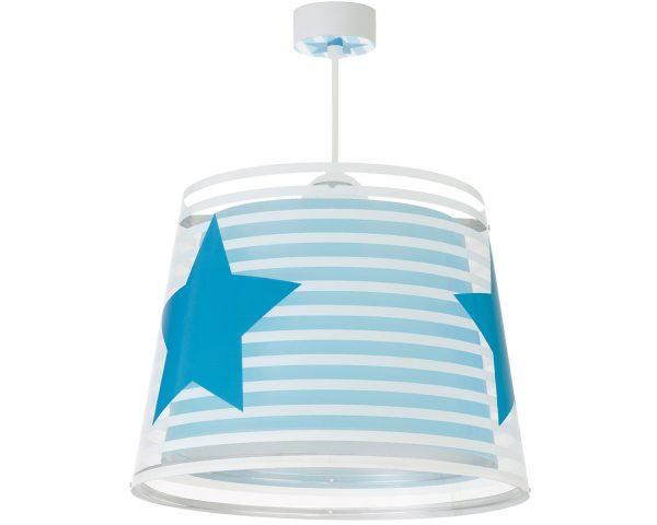 να παίξουν και να κοιμηθούν παρέα με τον αγαπημένο τους ήρωα. Συμπεριλαμβάνεται διαχυτής φωτός ο οποίος τοποθετείτε προαιρετικά για ακόμα πιο ομοιόμορφο ή απαλό φωτισμό. Συμπληρώνει τα υπόλοιπα παιδικά φωτιστικά της συλλογής επιτραπέζιων ή φωτιστικών τοίχου και είναι κατάλληλο για όλες τις νυκτερινές δραστηριότητες. Το Light Feeling Blue κρεμαστό φωτιστικό οροφής είναι εξαιρετικά εύκολο στην εγκατάστασή του και παρέχετε με καλώδιο και ροζέτα.
